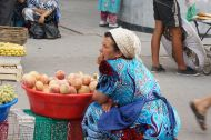Fruit sellers in the bazaar, Samarkand