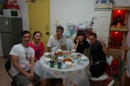 Dinner at Poyi's parents
