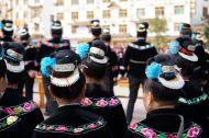 Sparkling, stunning Miao headdress, Leishan