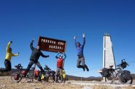 Jumping for joy at the first pass (3715m)