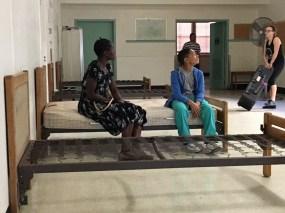 Anniwaa on set of film - Will Pilgrim
