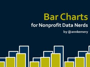 Bar Charts for Nonprofit Data Nerds
