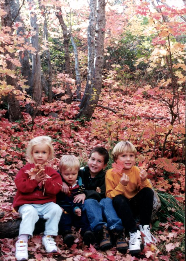 Fall Leaves & Kids 1996