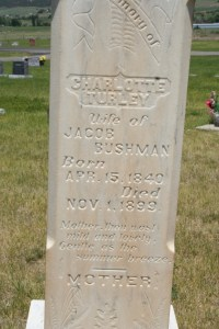 Bushman, Jacob & Charlotte headstone (1)