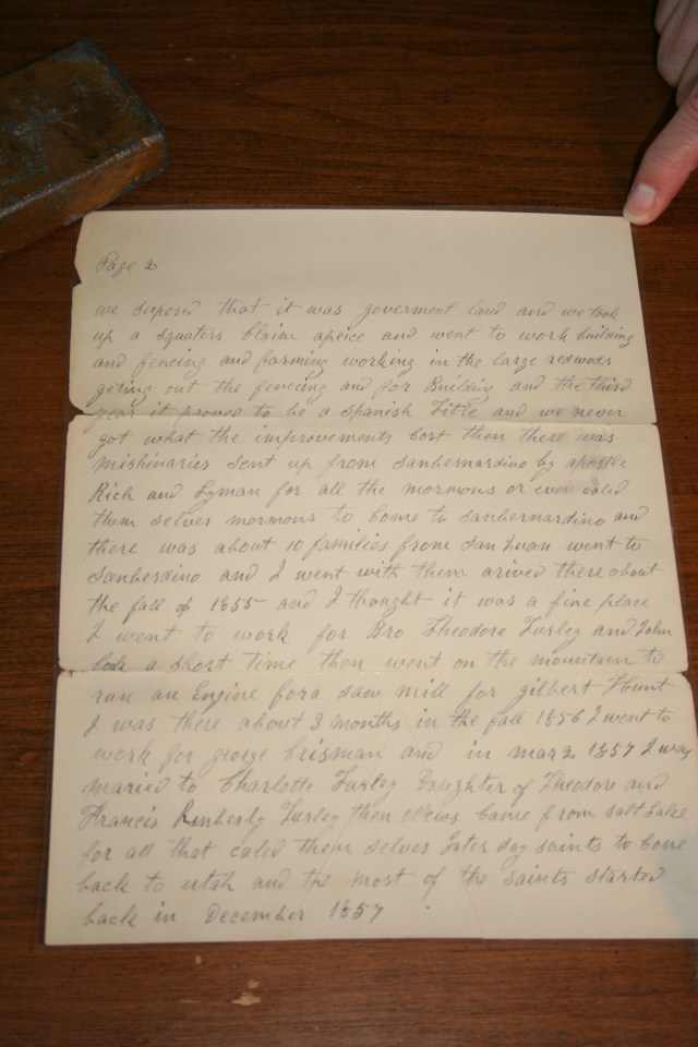 Bushman, Jacob Letter 1902 p. 2