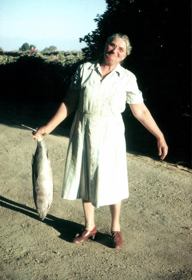 Grandma Elsa with Fish