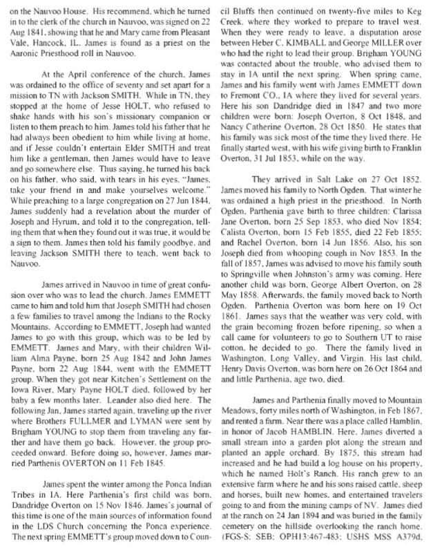 Holt, James & Mary History 2