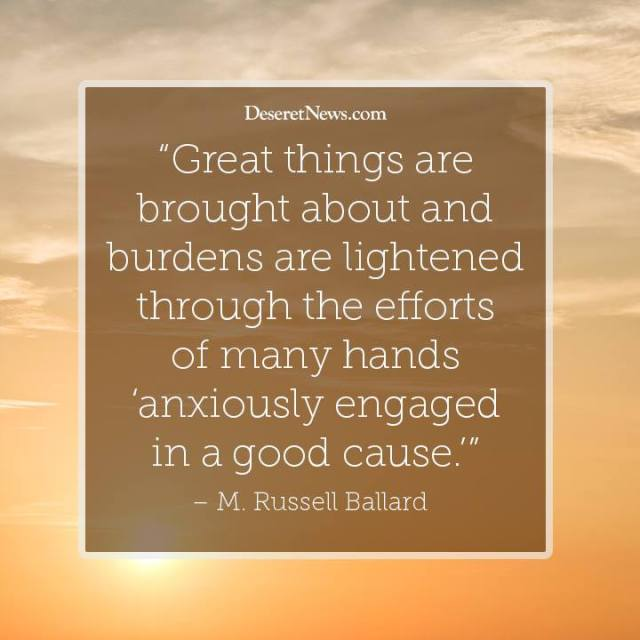 Great Things  -Elder Ballard quote