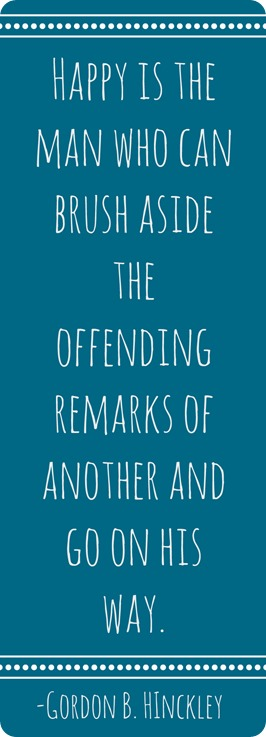 brush aside offending remarks