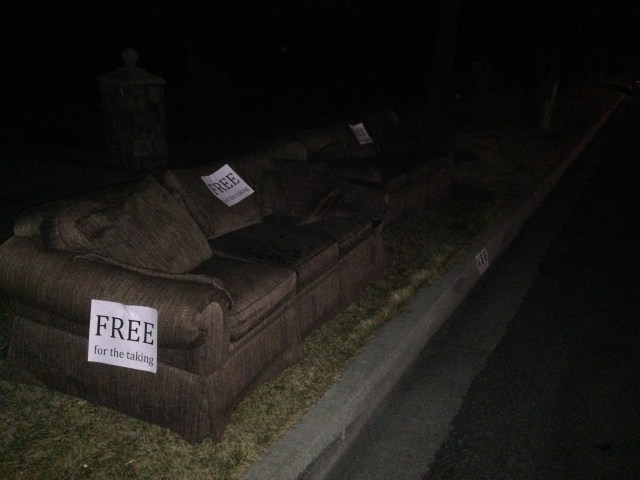 Sofas for Sale on Street