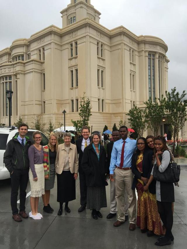 Payson Temple with Anounou's Family