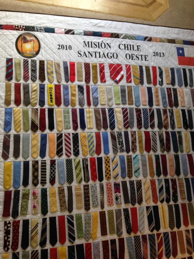 Santiago Chile Tie Quilt 6