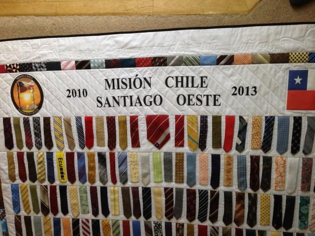 Santiago Chile Tie Quilt 8