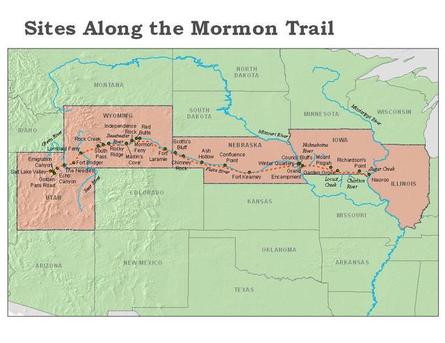 Mormon Trail Map 2