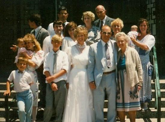 1989-7-1 Marilyn Loren Wedding Day