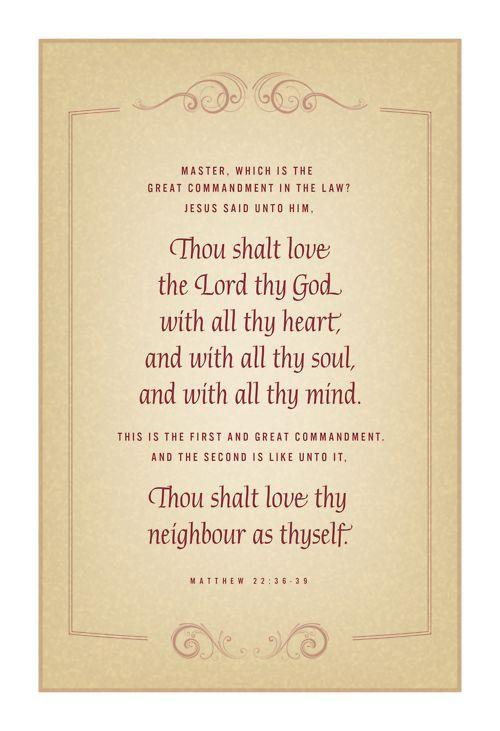 Greatest Commandment 1