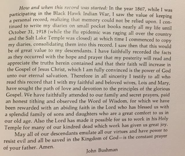 Bushman, John p. 1 of history text