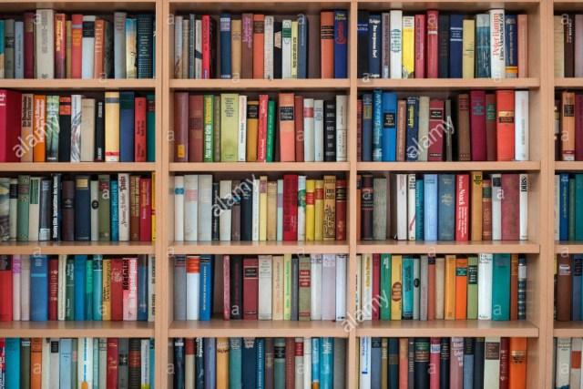 Bookshelves full