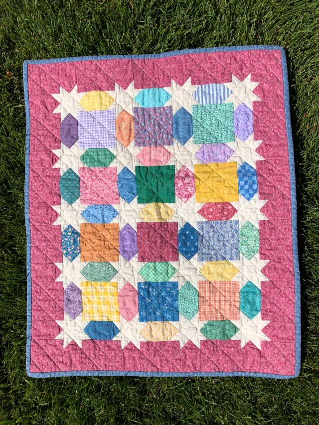 2019 Scrappy Star doll quilt