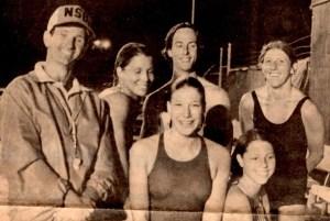 Coach Basil Bullard, Back row: Laura Grabiak, Scott Porta, Suzy Chamberlain. Front row: Laura Odley, Ann Fetterman (me)