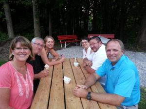 Left: Jill Stone, Jim Miller, me Right: Susie & Jim Black, David Stone