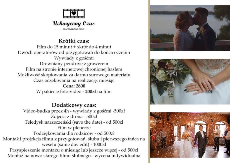 Oferta filmu na ślub Warszawa