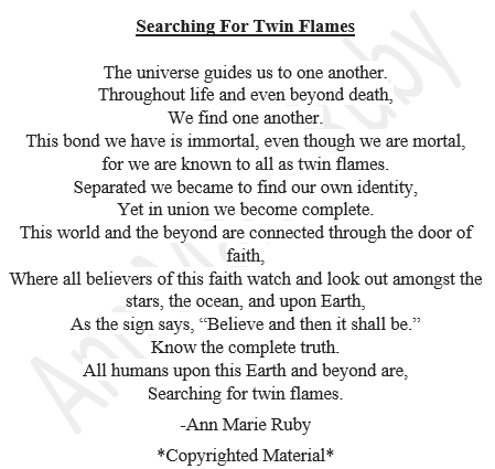 Searching For Twin Flames By Ann Marie Ruby