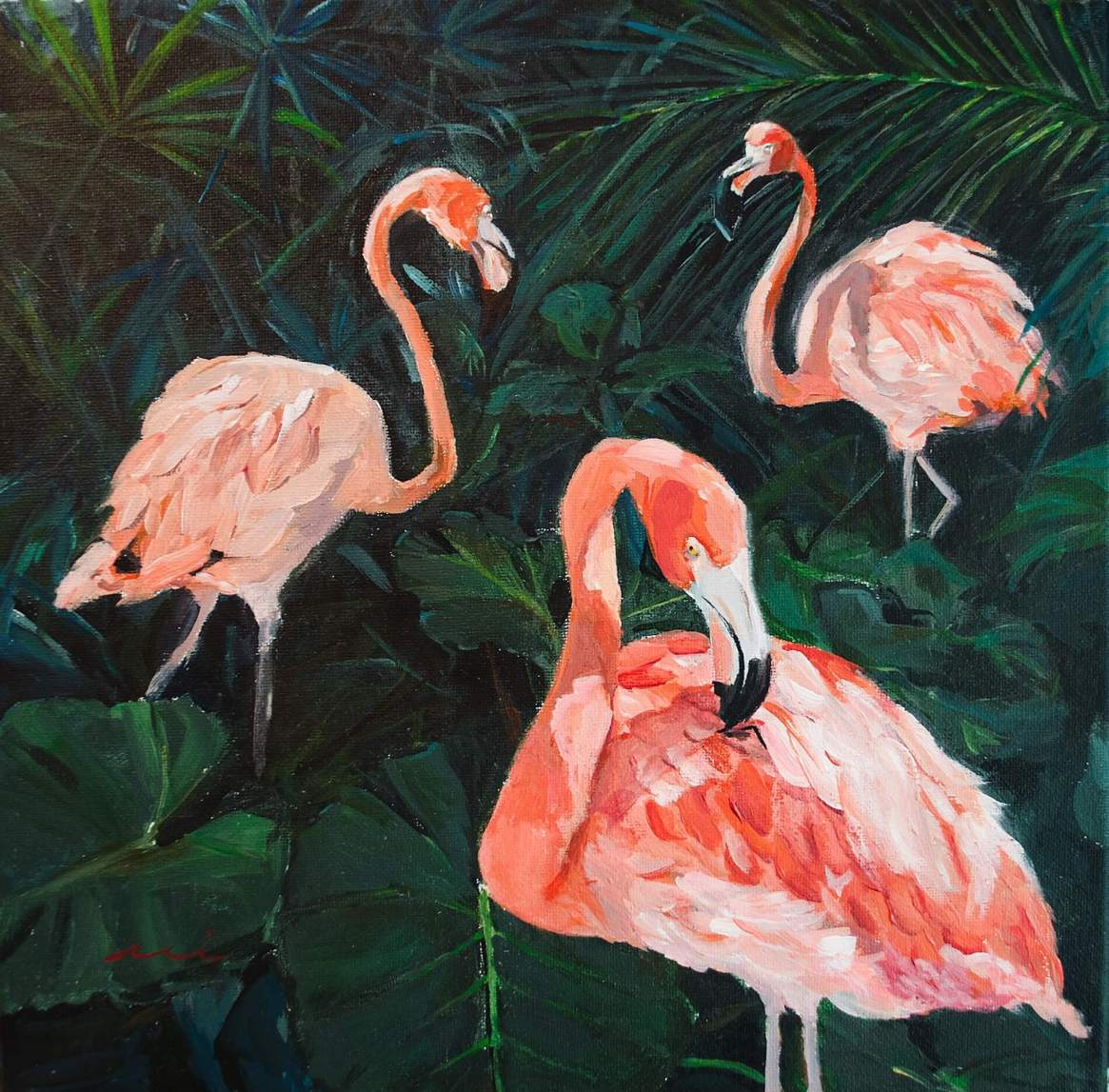 Flamingo Garden One