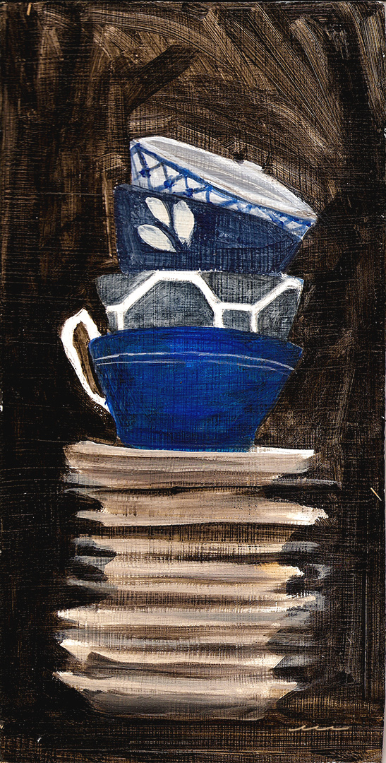 Teacups on Stacked Plates, 2012
