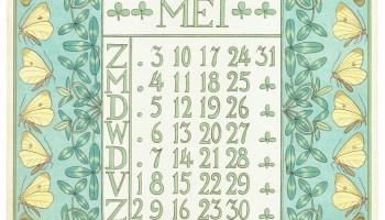 art_nouveau_kalenderblad_netty_vd_waarden_bloem_blad_kalender_mei_1903