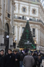 Christmas tree Galleria Vittorio Emanuele II