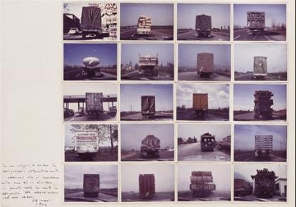 Franco Vaccari, 700 km di esposizione Modena Graz (16 works) , 1972