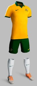 Australia 2014 World Cup Home Kit (1)