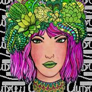 Abby's Pink Hair Annotated Audrey Art Tucson Artist
