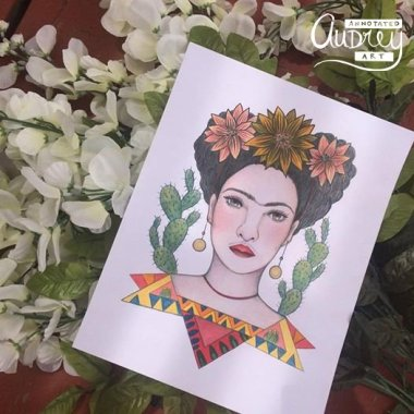 Cactus Bloom Frida by Annotated Audrey Art