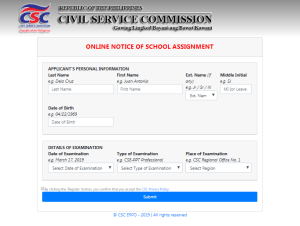 March 17 2019 Civil Service Exam room assignment
