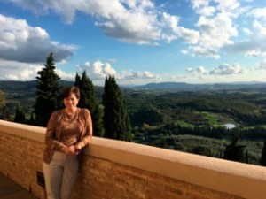 Ann Cochran during a moment in Italy.