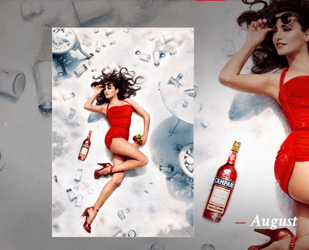 Campari_August-2013  Calendar starring Penelope Cruz