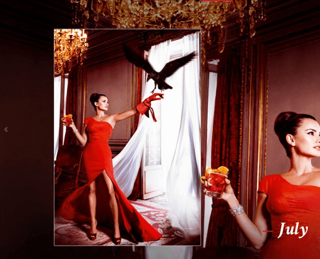 Campari_July-2013  Calendar starring Penelope Cruz by Fashion Photographer Kristian Schuller