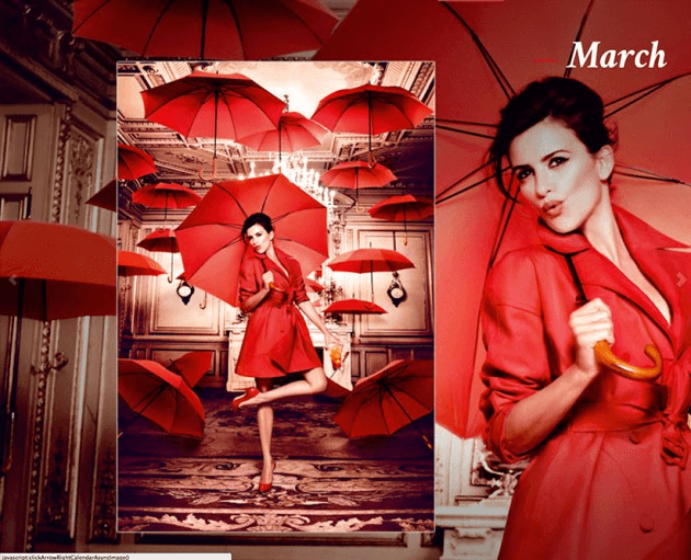 Campari_March-2013  Calendar starring Penelope Cruz by Fashion Photographer Kristian Schuller