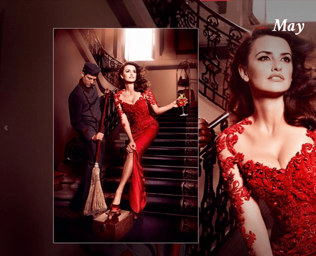 Campari_May-2013  Calendar starring Penelope Cruz by Fashion Photographer Kristian Schuller
