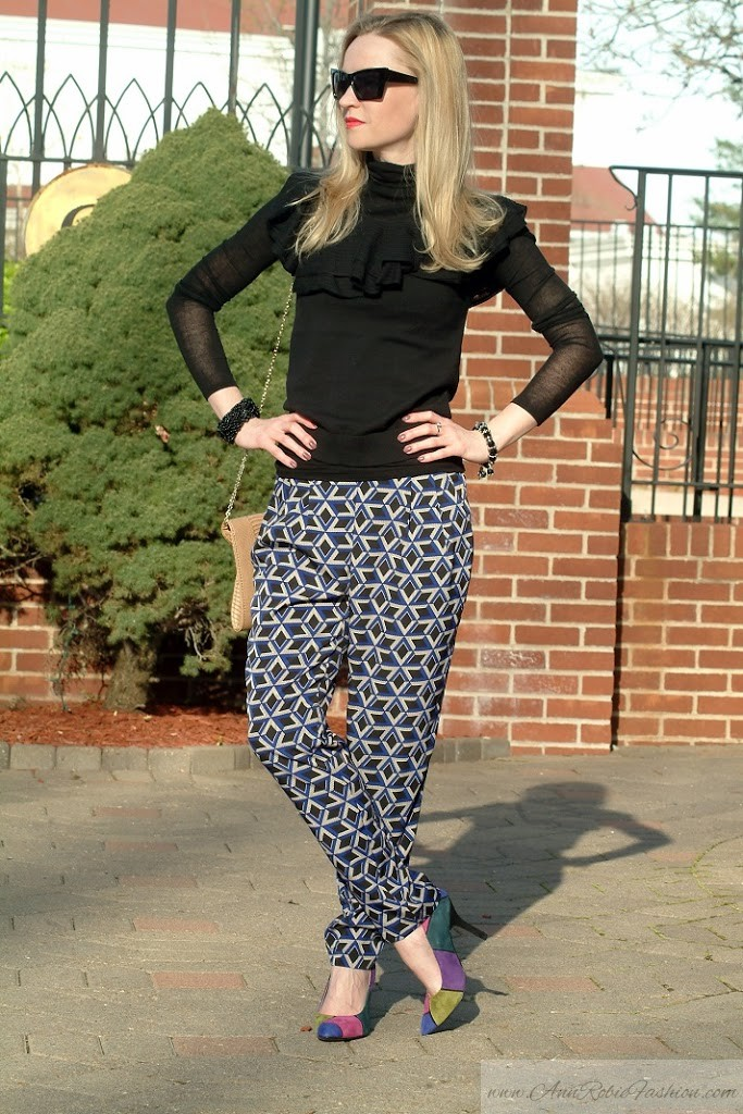 Black Ralph Lauren Top & Forever 21 Pants outfit by petite style blogger AnnRobieFashion