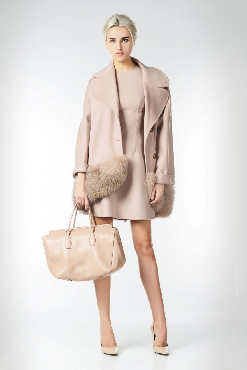 Ann Robie Picks: Ermanno Scervino Oversized Coat IN DOUBLE WOOL AND FUR INSERTS