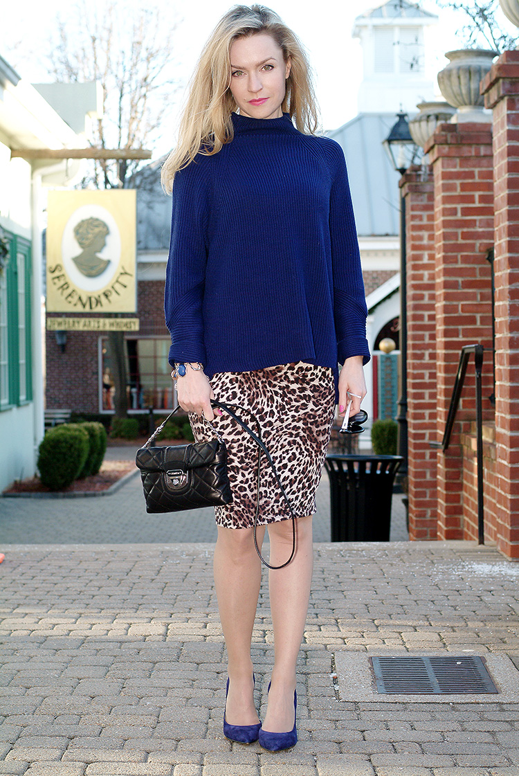 Elie-Tahari-navy-blue-sweater-with-suede-navy-blue-Jessica-Simpson-heels-and-leopard-print-pencil-skirt,-urban-chic-10