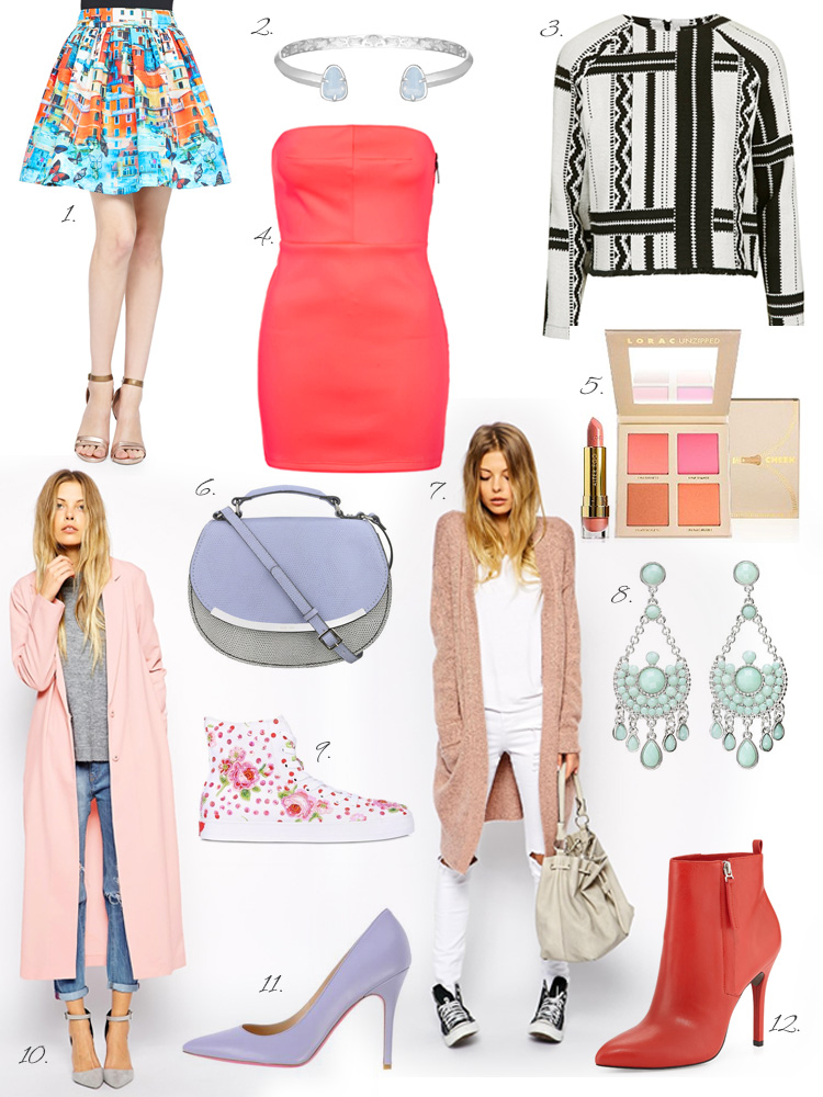 Spring Wish List in pink, baby blue & lilac shades by AnnRobieFashion