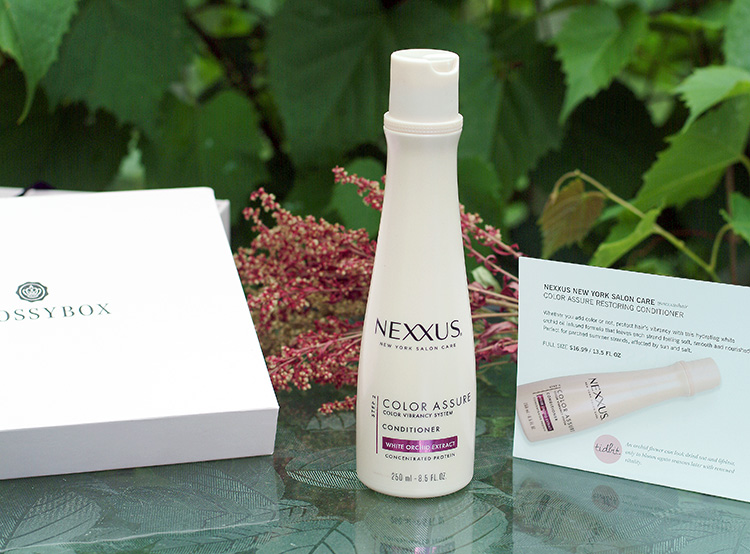 Glossybox June reviews by style blogger Ann from AnnRobieFashion.com; Color Assure Restoring Conditioner by Nexxus