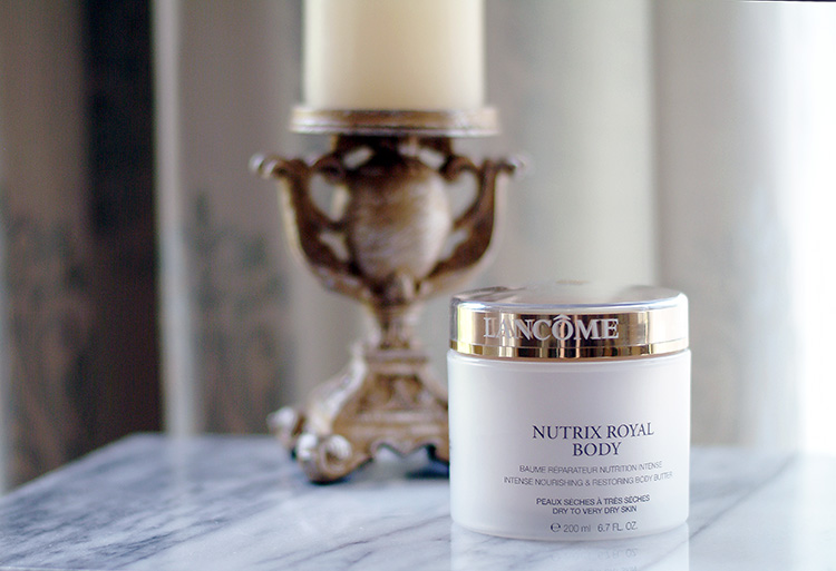 Beauty Review by style blogger AnnRobieFashion - Lancome Body Cream: Nutrix Royal Body