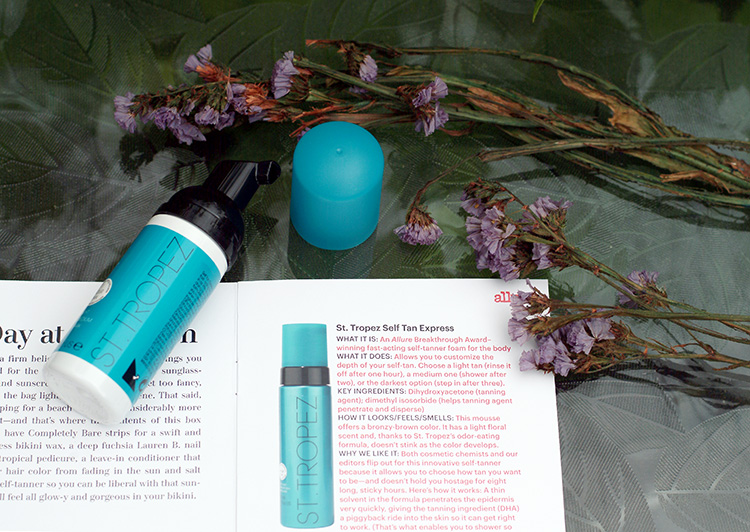 Allure June 2015, review by style blogger AnnRobieFashion: St. Tropez Self Tan Express