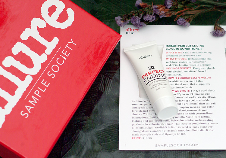 Allure Beautybox June 2015, review by style blogger AnnRobieFashion: eSalon Perfect Ending Leave in Conditioner