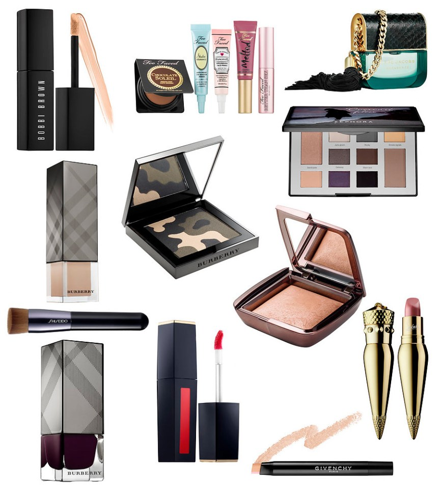 September Beauty Wish List by style blogger AnnRobieFashion - Estée Lauder Pure Color Envy Liquid Lip Potion, BURBERRY Autumn/Winter 2015 Runway Palette, Christian Louboutin Silky Satin Lip Colour